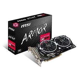 MSI VGA Graphic Cards RX 580 ARMOR 8G OC 51jtNWawtYL. SS300