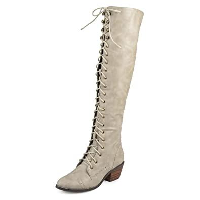 a6340aee4e8 Journee Collection Bazel Women Round Toe Synthetic Gray Over The Knee Boot