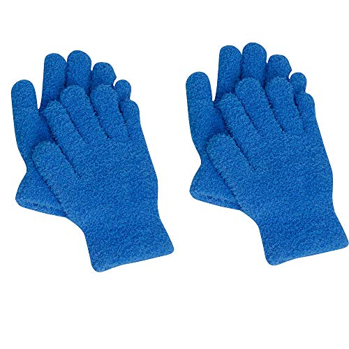 EvridWear Microfiber Auto Dusting Cleaning Gloves for Cars and Trucks, Dust Cleaning Gloves for House Cleaning, Perfect to Clean Mirrors, Lamps and Blinds (2Pairs S/M)