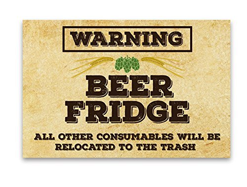 Fridge Funny Beer Warning Magnet product image