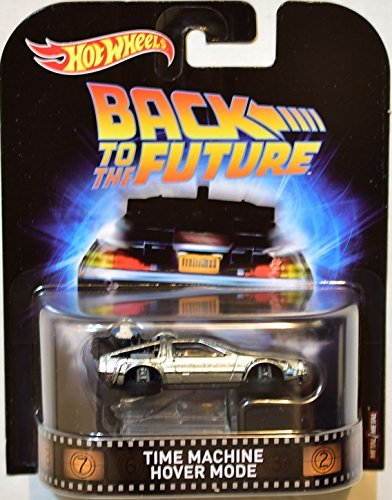 2017 Hot Wheels Retro Entertainment Real Riders Back To The Future Time Machine Hover Mode