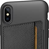 Silk iPhone X/XS Wallet Case - Wallet Slayer Vol. 2 [Slim Protective Kickstand CM4 Q Card Case Grip Cover] - Black Tie Affair