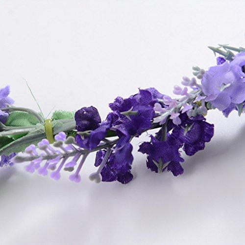 De Lavande Couronne Plage Mariage Photographie Floral Vacances Cheveux Fleurs Bandeau Acmede Pour Mariée Zt5nxwqOt