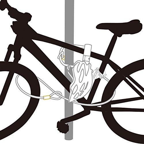 Via Velo Bike U Lock with Strong Cable Heavy Duty Bicycle U Lock Shackle 15mm with 3 Keys and Weatherproof Shock Lock Set, Bike Tire Lock for Road Bike Mountain Bike Electric Bike Folding Bike by Via Velo (Image #8)