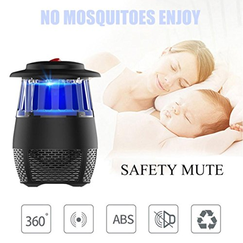 USB Stheanoo Mosquito Zappers Electric Fly Bug Insect Killer LED Light Pest Trap Lamp Non-toxic, Non-polluted, Radiation-free Mosquito Killer for Home Kitchen Bedroom (black) by Stheanoo Zapper (Image #9)