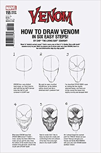Venom Issue 155 How To Draw Variant By Chip Zdarsky Mark Bagley