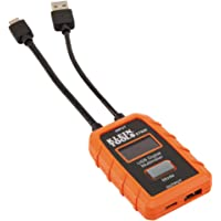 USB Power Meter, USB-A and USB-C Digital Meter for Voltage, Current, Capacity, Energy and Resistance, Klein Tools ET920