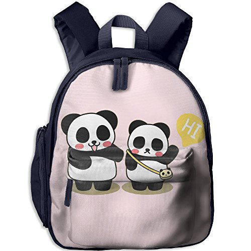 Panda Kids School Bag For 3-6 Years Old Child ShoulderBookbag Navy For - Dance Sunglasses Bill
