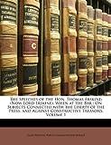 The Speeches of the Hon Thomas Erskine, James Ridgway and Baron Thomas Erskine Erskine, 1147203059