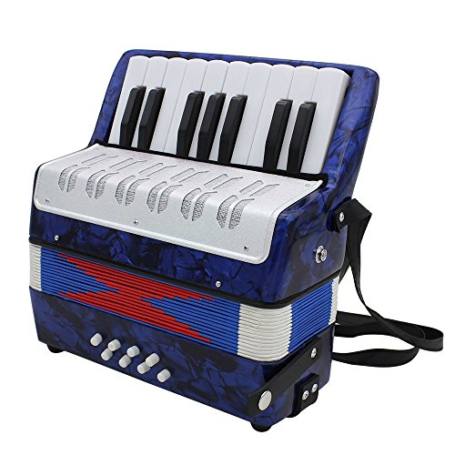 Andoer Mini Small 17-Key 8 Bass Accordion Educational Musical Instrument Toy for Kids Children Amateur Beginner Christmas Gift by Andoer