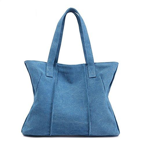 main de fourre la tout à sac européenne la Blue bandoulière Sac Femmes mode coréenne LANDONA américaine capacité tissu version sac à Sky unique grand la Sac et x7z8nAq