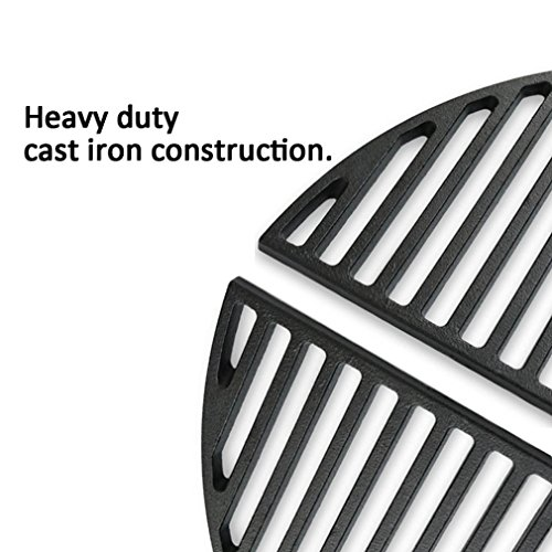 "Half Moon Cast Iron Cooking Grate for 18"" Kamado"