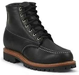 Chippewa Mens 1975 Original Insulated Trekker Mountaineer Boot Moc Toe - 6068Blk