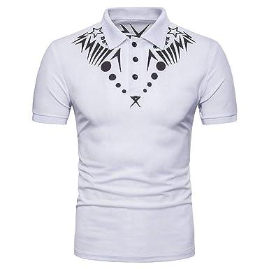 Polo Hombres De Verano De Manga Corta Retro Polos tee Camiseta De ...