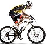 LYCAON Bike Bicycle Cycling Shorts 3D Gel Padded Shorts Men Women Boy Girl (XL, RP)