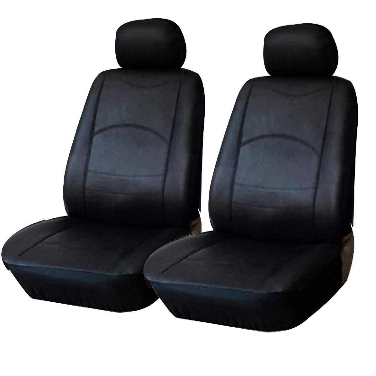 eSituro SCSC0047 2er Einzelsitzbezug universal Sitzbez/üge f/ür Auto Schonbezug Schoner aus Kunstleder schwarz
