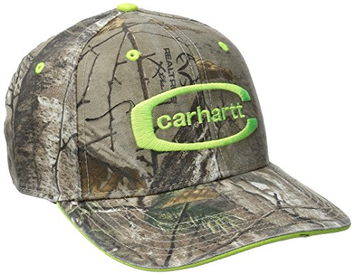 Carhartt Men's Midland Cap, Real Tree/Brite Lime, One Size