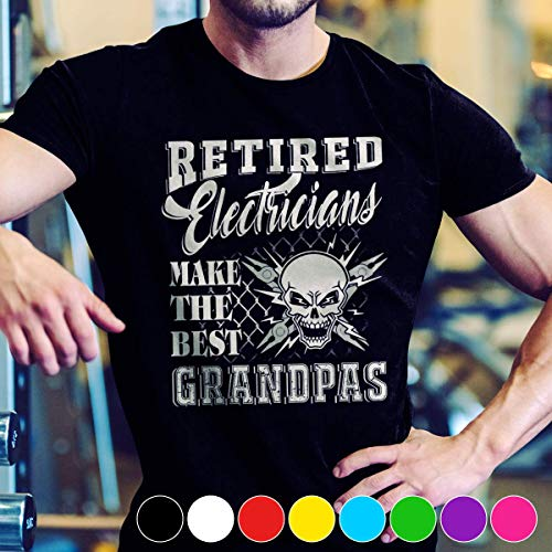 (Electrician Retired electrician make the best grandpas T Shirt Long Sleeve Sweatshirt Hoodie Youth)