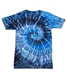 Adult Swirl Tie-Dyed Cotton Tee (Evening Sky Spiral) (5X-Large)