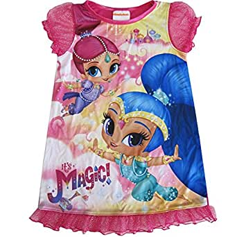 Nickelodeon Little Girls rosa Shimmer y brillo impresión ...