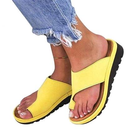 RPU Sandalias Zapatos de Viaje de de corrección del Dedo Gordo del pie para PU Suave
