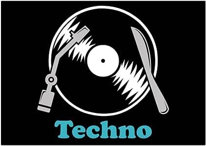 Teeburon Techno LP Pack de Pegatinas x4: Amazon.es: Hogar