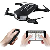 Mini RC Drone, GEEDIAR JJRC H37 BABY ELFIE Foldable Selfie Drone Quadcopter with WIFI FPV 720P HD Camera, APP Control, Headless Mode, G-sensor Mode, 3D Flips and Rolls, Altitude Hold RC Quadcopter