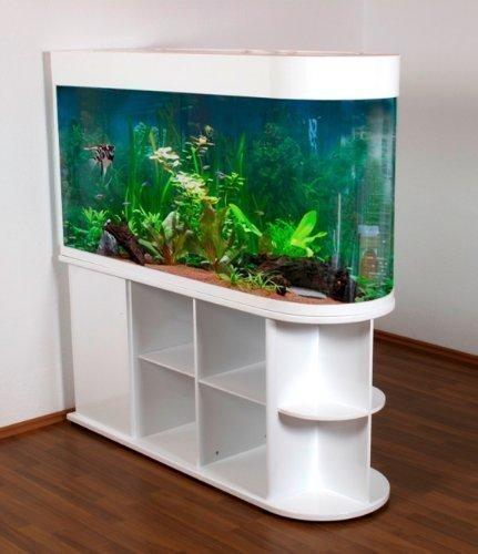 Raumteiler-Aquarium U150 / Mattschwarz
