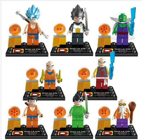 [Building Blocks Dragon Ball Z MiniFigures Goku Vegeta Yamcha Figure Bricks Toys For Children Compatible With Lego (WITHOUT original] (Bulma Costume)