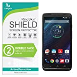 [2-Pack] Motorola Droid Turbo Screen Protector RinoGear Case Friendly Screen Protector for Motorola Droid Turbo Accessory Full Coverage Clear Film