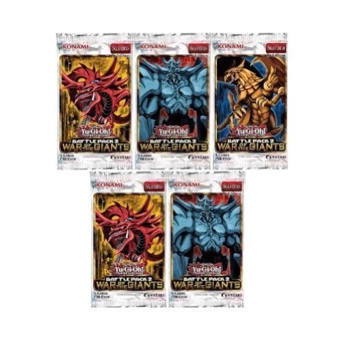 - 5 (Five) Pack Lot - Yu-Gi-Oh Cards Battle Pack 2: War Of The Giants Packs