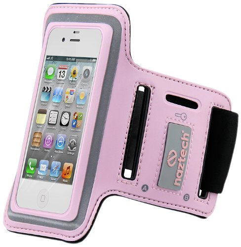 - Naztech 11944 Sports Armband for Apple iPhone 3G,3GS,4,4S and other PDAs - Carrying Case - Non-Retail Packaging - Pink