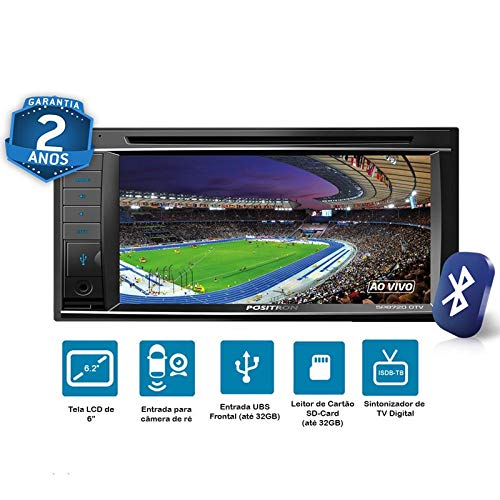 Central Multimidia, Pósitron, SP8720, DVD Automotivo, Preto