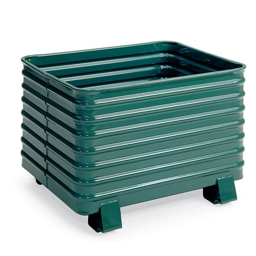 Steel King Round Corner Corrugated Steel Containers - 41-1/2