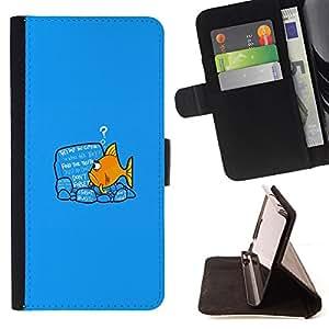 BullDog Case - FOR/Sony Xperia m55w Z3 Compact Mini / - / Please Stand By /- Monedero de cuero de la PU Llevar cubierta de la caja con el ID Credit Card Slots Flip funda de cuer