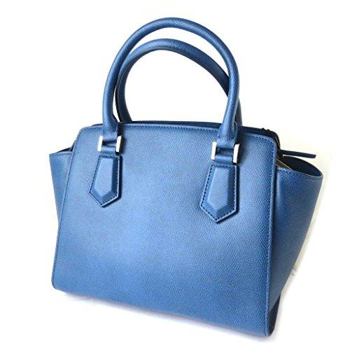 Bolsa de cuero 'Gianni Conti'azul - 33x26.5x16 cm.
