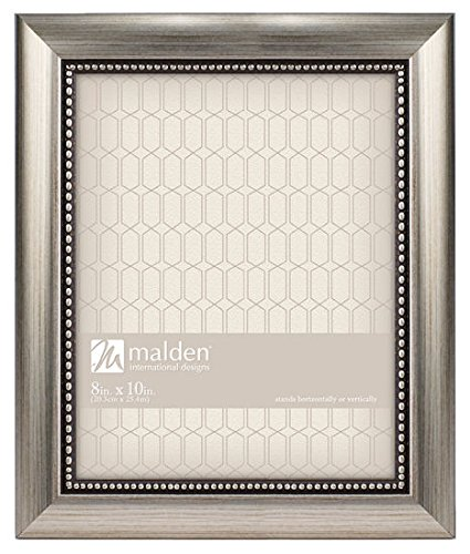 Beaded Frame (Malden International Designs Classic Mouldings Champagne Beaded Picture Frame, 8x10,)