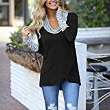 Kamendita Women's Tops Loose Women Casual Women O-Neck Stripe Long Sleeve Sweatshirt Pullover Tops Shirt Blouse T-Shirt Tops