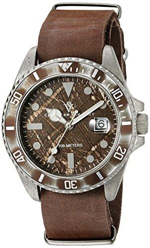 Christian Van Sant Men's CV5201 Montego Analog Display Quartz Brown Watch