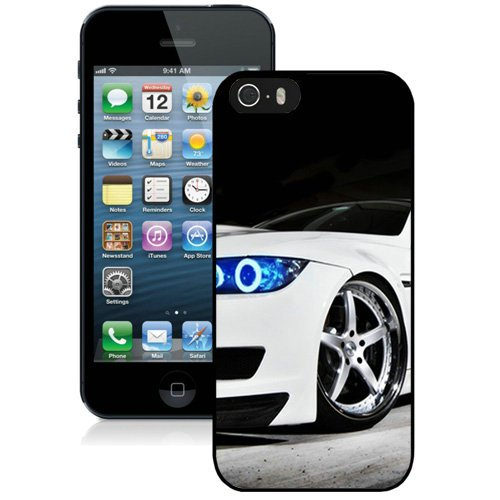 Coque,Fashion Coque iphone 5S Bmw M3 blanc Blue Lights Noir Screen Cover Case Cover Fashion and Hot Sale Design