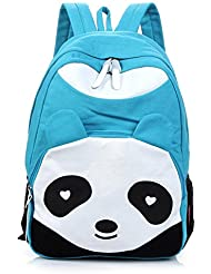 Cute Panda Unisex Canvas Backpack School Bag College Laptop Bags Rucksack for Teens Girls Boys Students Outdoor...