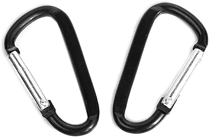Camping Hiking Hook Black Climbing Button Alloy Carabiner Buckle Keychain