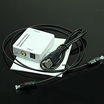 Wrisky TV Optical SPDIF/Coaxial Digital to Analog Audio Converter Out Headphone RCA L/