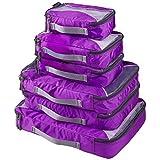 G4Free Packing Cubes Value Set for Travel - 6pcs (C-Purple)
