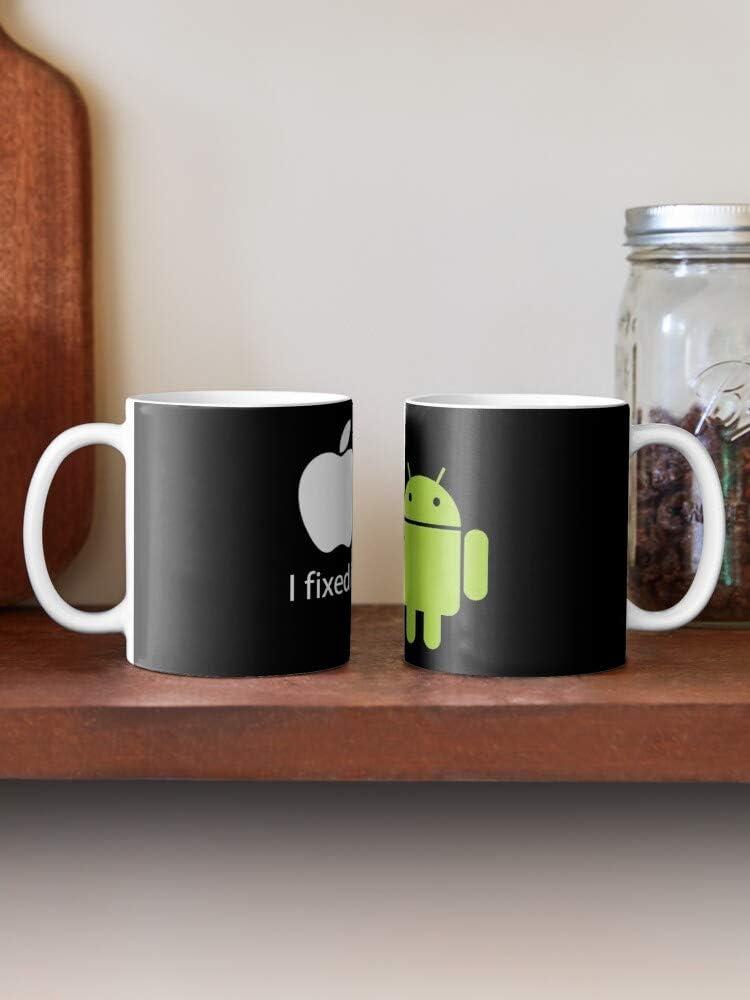 Fixed Fix Aple Apple Vs Android Taza de caf/é con Leche 11 oz