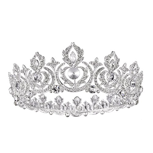 Eseres Women Tiaras Crowns Full Round Birthday Crown Pageant Crown