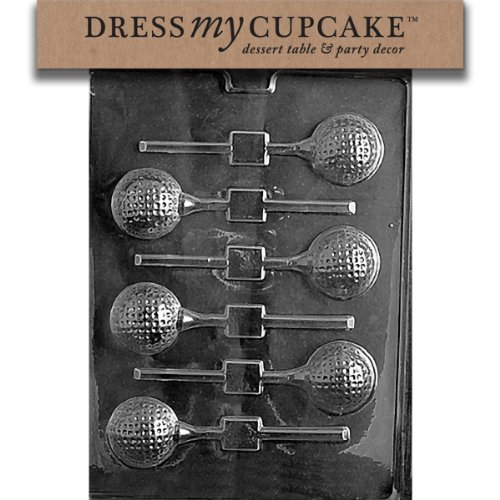 - Dress My Cupcake Chocolate Candy Mold, Golf Ball Lollipop