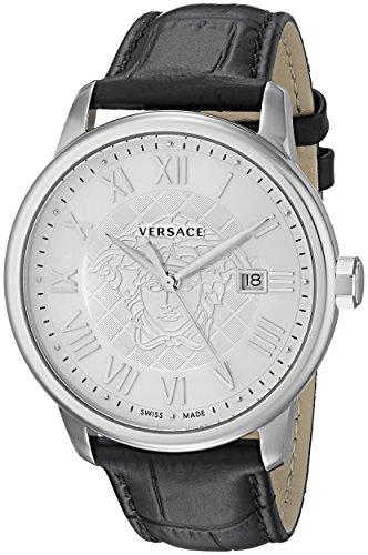 Versace Men's VQS010015 Business Analog Display Quartz Black Watch