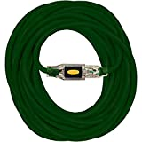 Serpentec 630-163080L50 Extension Cord Stay Lighted Locking Plug Indoor/Outdoor 16/3 80 ft, 16-gauge, Green