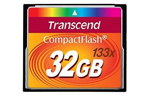 Transcend 32GB CompactFlash Memory Card 133x (TS32GCF133) Size: 32 GB, Model: TS32GCF133, Electronic Store & -